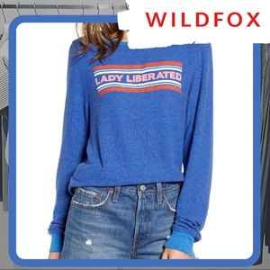 🐰 NWOT WILDFOX Lady Liberated Baggy Beach Jumper